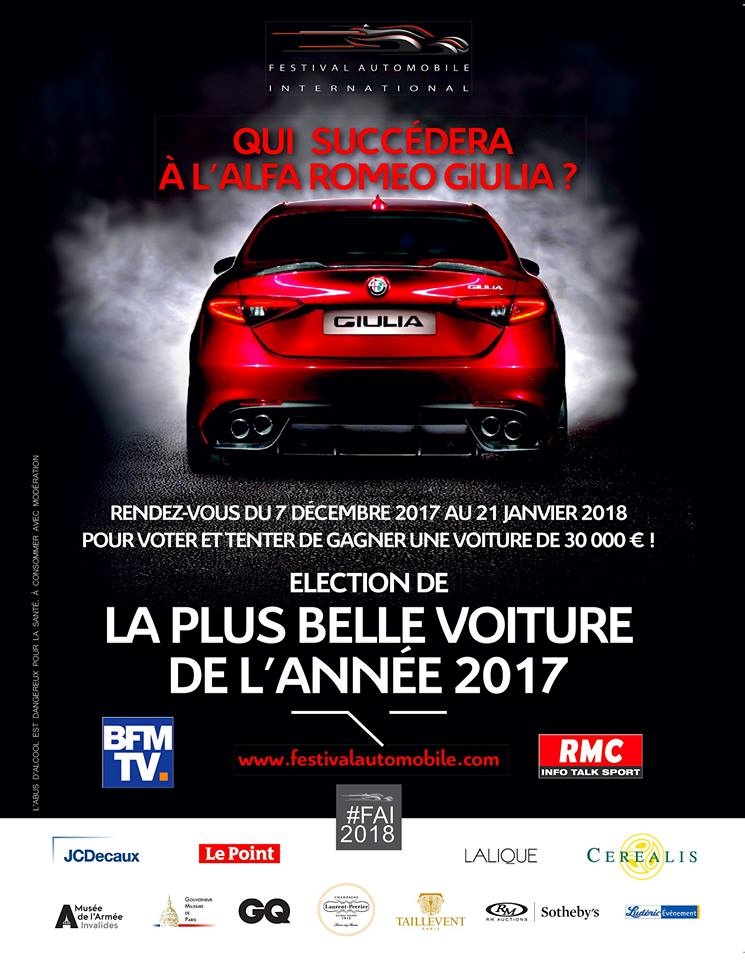 The very first Poster for the Election of the Most Beautiful Car of ...